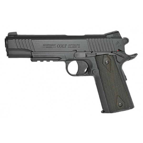 KWC 1911 Government Model CO2 NBB Pistol ! (Colt 1911 Rail Gun) - Black Model