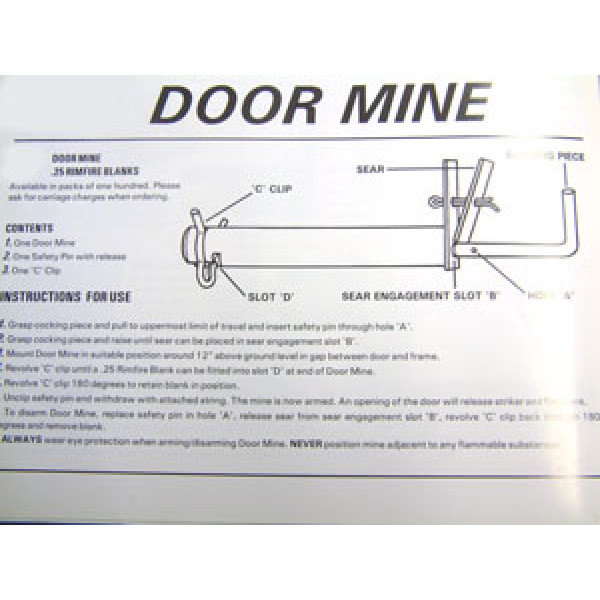 Door mine Booby-trap or alarm