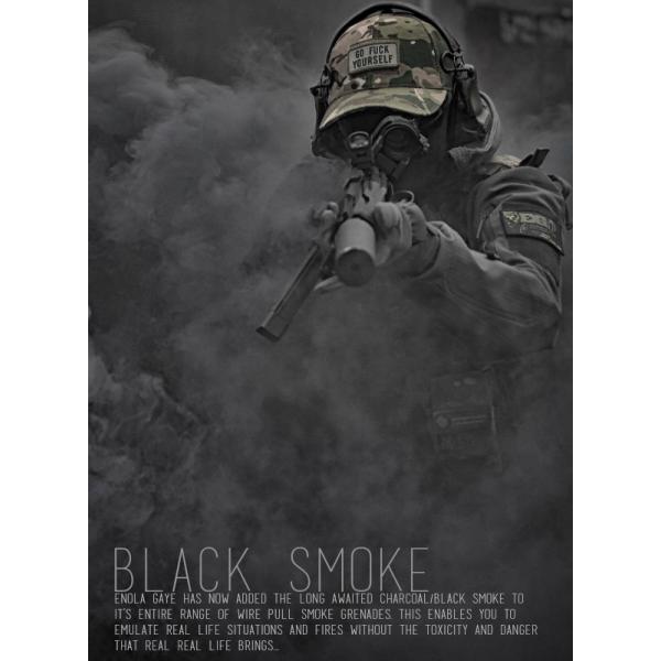 NEW Enola Gaye Ring-Pull Coloured Smoke grenade - BLACK