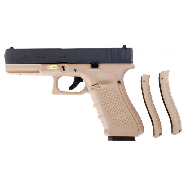 WE Glck G17 Gen.4 Tactical GBB Airsoft Pistol Tan Frame