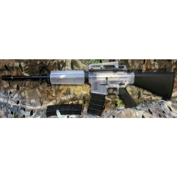 ICS M4A1 Stubby Stock AEG (Clear Plastic) Airsoft Rifle