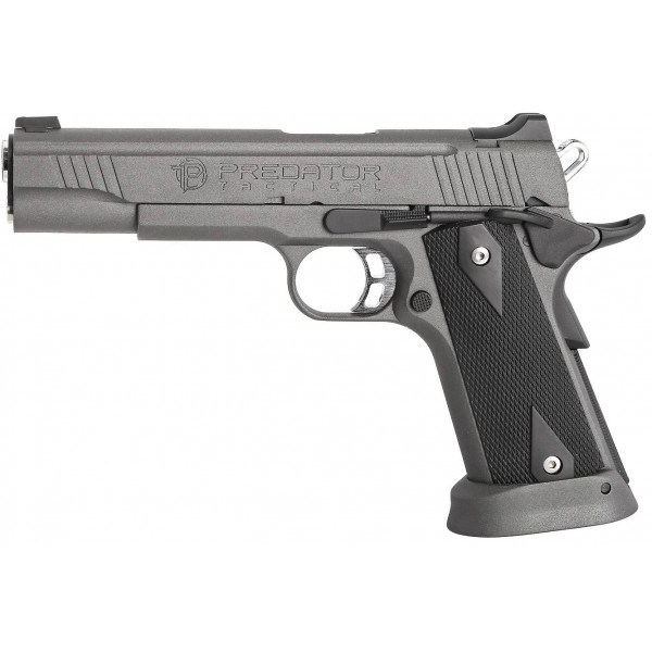 King Arms Predator Tactical Iron Shrike GBB Airsoft Pistol - Grey Sandblast