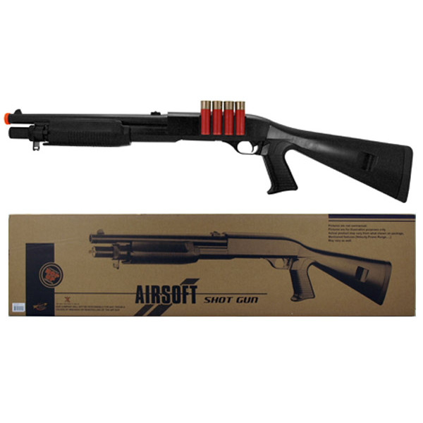 AGM M56 Style Full Stock Airsoft Shotgun (M183-A2)