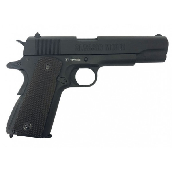 Milbro Tactical Division branded KWC Classic 1911 Series BlowBack Airsoft Pistol - Black