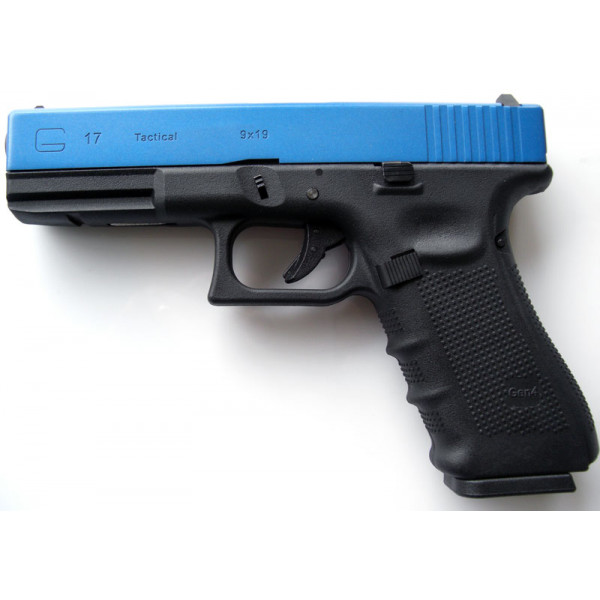 Two-Tone Blue WE Glck G17 Gen.4 Tactical GBB Airsoft Pistol
