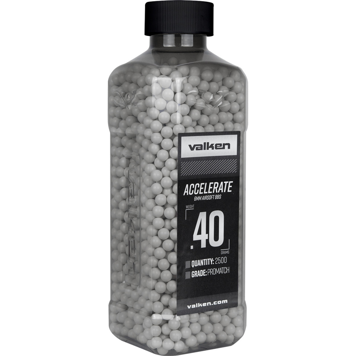Valken Airsoft 0.40g Accelerate 6mm BB (2500qty) - White/Grey
