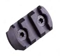 Alloy M-LOK 3 Slot Rail Section - Black