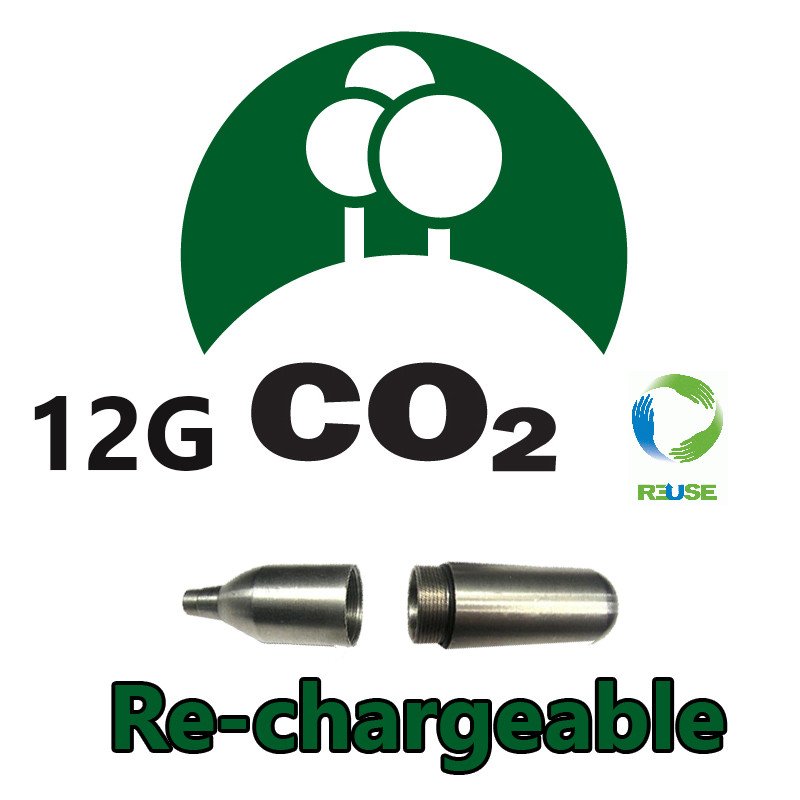 12gramme RECHARGEABLE CO2 Cartridge (single)