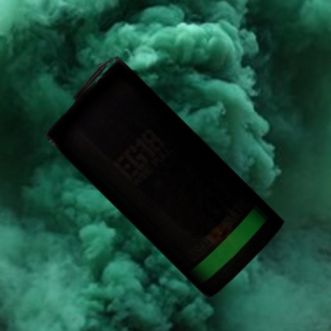 Enola Gaye EG18 Military Smoke - Green Ring-Pull fuse