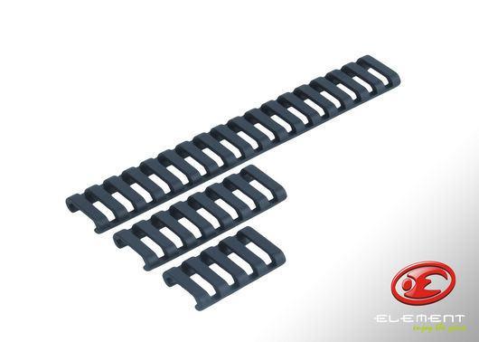 31-Rib Ladder 20mm Rail Covers - Forest Green