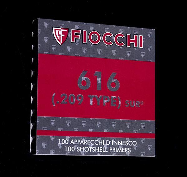 .209 Fiocchi  616 SUR Shotgun Primers (Pack of 100)