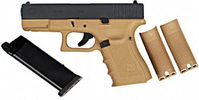 WE Glck G19 Gen.4 Tactical GBB Airsoft Pistol Tan Frame