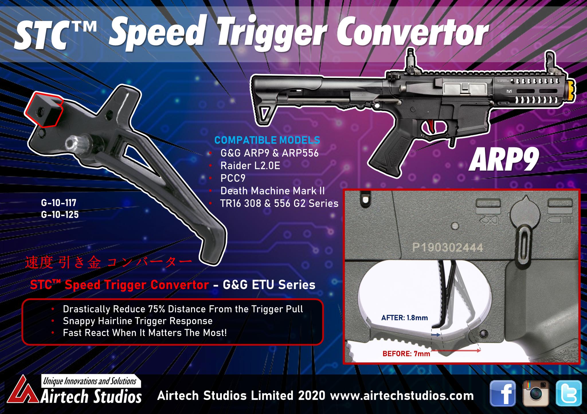 Airtech Studios STC Speed Trigger Convertor - G&G ETU Models