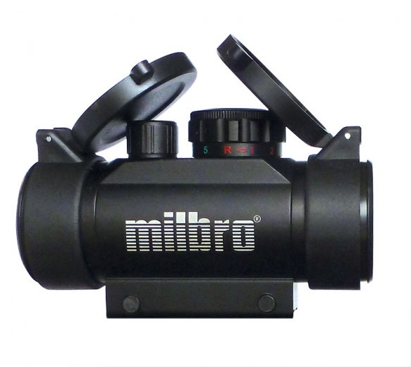 MILBRO 1x30 Red / Green Dot Sight - Silver/Blue Coated Objective Lens