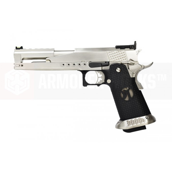 Armorer Works Custom Hi-Capa Dragon HX2201 'Race Pistol' Airsoft Pistol - Silver Slide