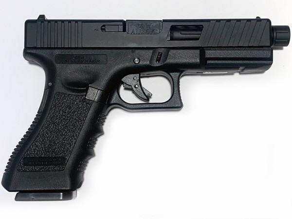 NEW! POSEIDON B&W W17 BB [Black Black] / G17 Custom CNC metal RMR slide GBB Airsoft pistol