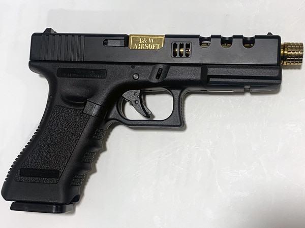 NEW! POSEIDON B&W H17 BG [Black Gold] / G17 Custom CNC metal RMR slide GBB Airsoft pistol