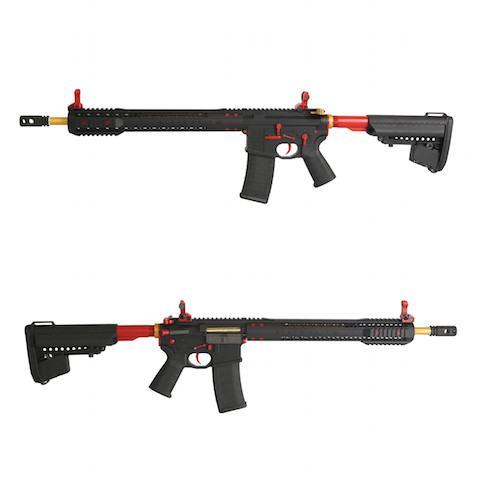King Arms Black Rain Ordnance Rifle - Red/Gold -  Airsoft AEG