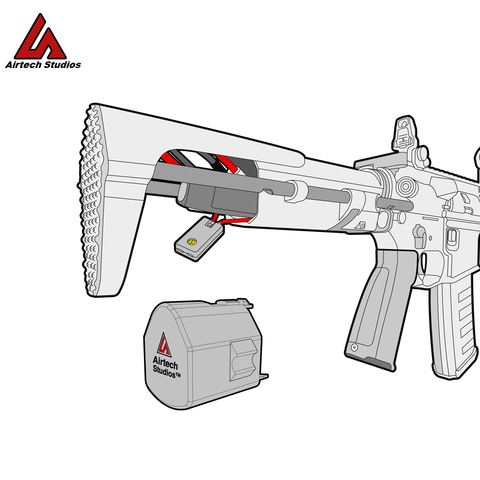 Airtech Studios BEU (Battery Extension Unit) - G&G ARP9/556, AM-Series, KWA TK45 / Ronin and Krytac Trident MK2 PDW