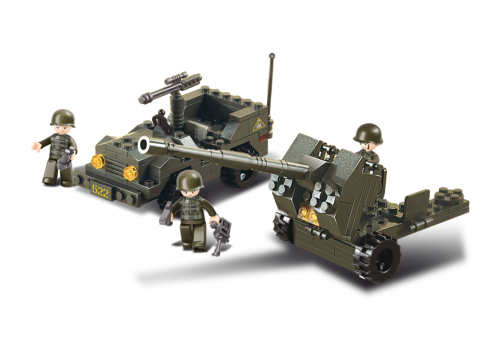 SLUBAN Anti Aircraft Gun & Jeep M38-B5900