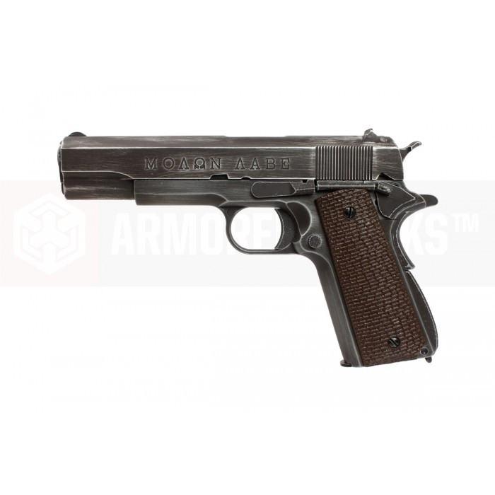 Armorer Works NE2002 Molon Labe 1911 Airsoft Pistol - Brown Grips