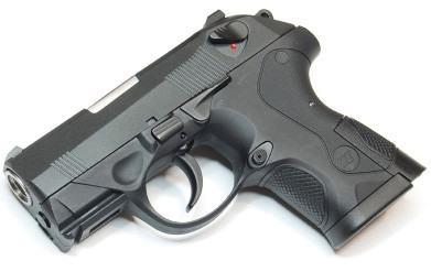 "WE 3Px4 HK PX4 Compact ""Bulldog"" - Black - Metal Slide Airsoft Pistol"