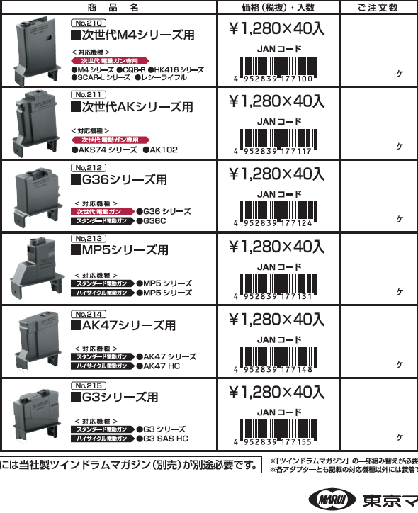 Tokyo Marui 1200rd Twin Drum Magazine ADAPTOR - AR36