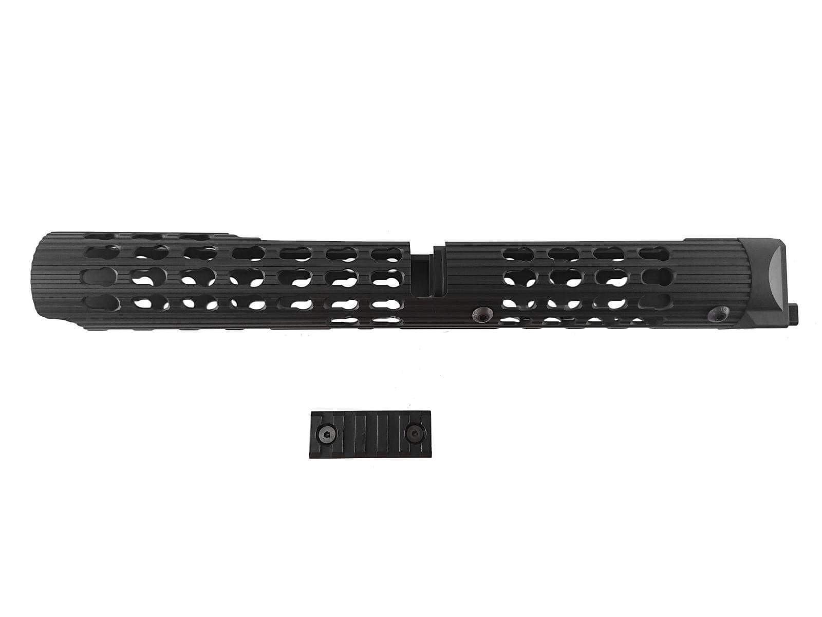 TWI VS-24 AK Keymod Long Tubular Aluminum HandGuard for AKM, AK-74 (BK) - Black
