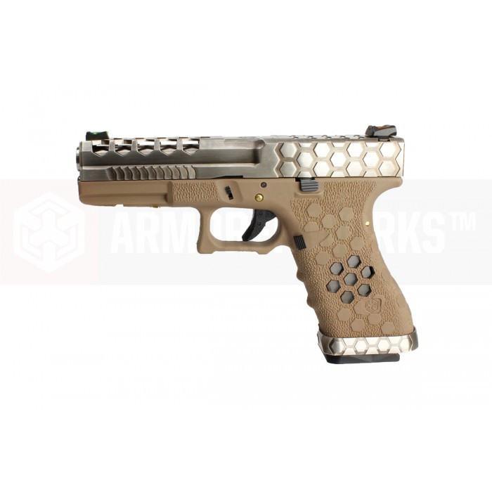 Armorer Works VX Series Custom Hex-Cut Airsoft Pistol - VX0110 Tan