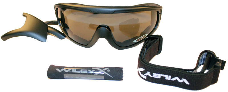 Wiley X CQC Military Goggles - Smoke Grey/Clear lenses with Matte Black Frame