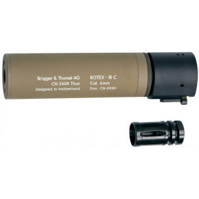 B&T ROTEX III Compact quick detach suppressor - Tan 160mm