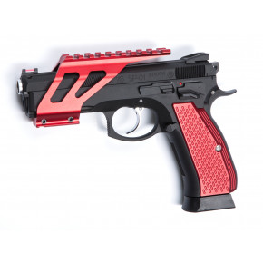 ASG Branded CZ SP-01 Shadow CNC Rail System - Red