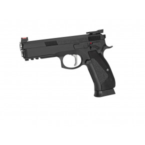 ASG Branded KJ Works CZ 75 SP-01 Shadow ACCU GBB Airsoft Pistol - Black