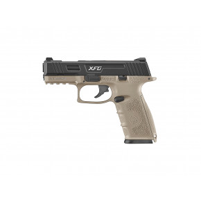 ICS XFG Gas Blowback Airsoft Pistol - Black and Tan