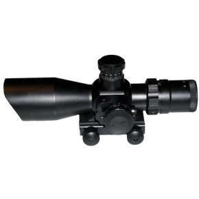 Military Spec 2.5-10x40 Mil dot illuminated crosshair scope with laser.