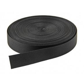 25mm Black Webbing (per metre)