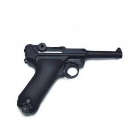 WE Luger P08 4-Inch GBB Pistol - Black