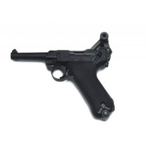 KWC CO2 Luger P08 4-Inch Pistol - Black