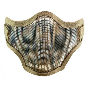 Valken Tan 2G Mesh Face Shield / Mask with Skull Print