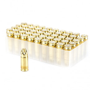 Luger type 9mm x 19 Brass Blanks (50) by Fiocchi