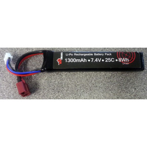 Lithium Polymer Battery (Li-Po / LiPo)-7.4v-1300 mAh - Deans Connector