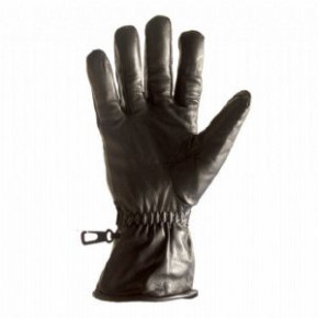 Pattern 95 Leather glove in Black - LARGE