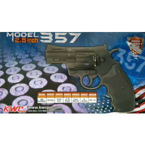 "Colt Python .357 Magnum CO2 Airsoft Revolver - 2.5"" Barrel - Black"