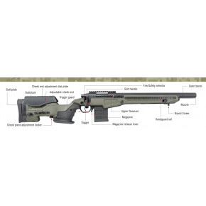 Action Army AAC T10-S Airsoft Sniper Rifle - Ranger Green