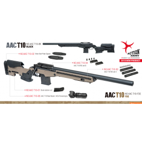 Action Army T10 20mm Stock Bottom Rail Mount For Monopod