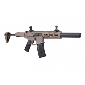 "ARES Amoeba ""Honey Badger"" AM-014 with Extended Suppressor Airsoft Rifle - Tan"