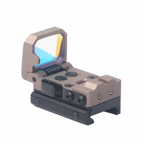 Aim-O Flip Dot Reflex Sight - Dark Earth
