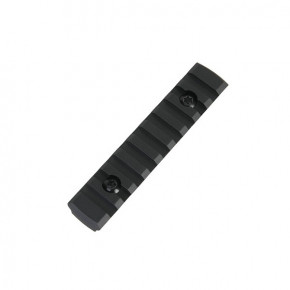 Alloy M-LOK 9 Slot Rail Section - Black