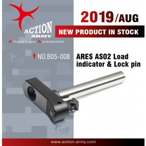 Action Army ARES Striker AS02 Rifle Load Indicator and Lock Pin - CNC Aluminium/Steel