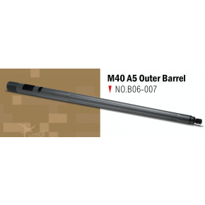 Action Army TM M40 A5 Fluted Custom Outer Barrel - Black